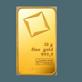 Gold bar 20 g  c43ce37307d4b995f961c763fcd488c54db4ea5232ff58155eb8e08be61ecb5d