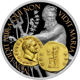 "Silver coin ""Neptune - God of the oceans and waters"", face"
