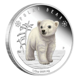 """Silver coin """"Polar Babies – Polar Bear"""", face"""