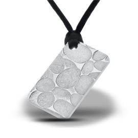 "Silver pendant bar ""River Stones"" front"
