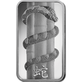 "Silver bar ""Year of the Snake"""