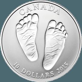 """Сребърна монета """"Добре дошъл на света"""" 2015"""