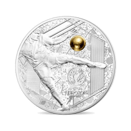 "Silver coin ""Great sport events-UEFA - Volley kick"""