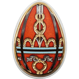 "Silver coin ""Red Easter Egg, Faberge style""  7a3650689c4c5d03ab3a97dc352f8c53250c9c998036d2321dabad545cdeb296"