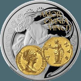 """Сребърна монета с частично позлатяване """"Венера, Богинята на любовта""""  a16740ebad7cc9766e416d8c12247d1aa96aad2b42b86b8efcb564e78a2feb70"""