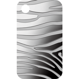 "Silver pendant bar ""Zebra"" front"