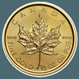 """Gold coin """"Maple Leaf"""" 1/2 oz  9953a583ca955516a52a6dd2595b4b67ecb19f46a7ae6ef6b10893d8fbcda7e6"""