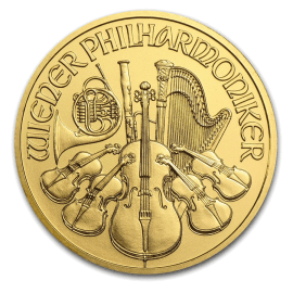 """Gold coin """"Austria Philharmonic"""" 1/10oz  42d9e8aeb15bc44718a7308d8c79a770a7092671d84d4359c80bd8854d373744"""