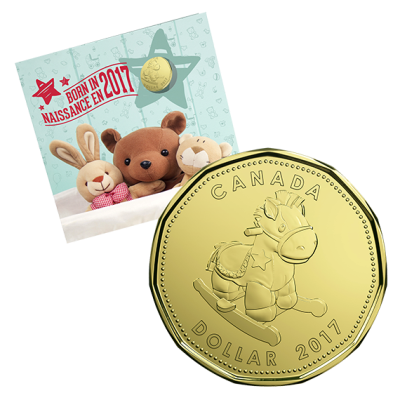 Подаръчен комплект за Бебе 2017 опаковка лице, монета 1 долар