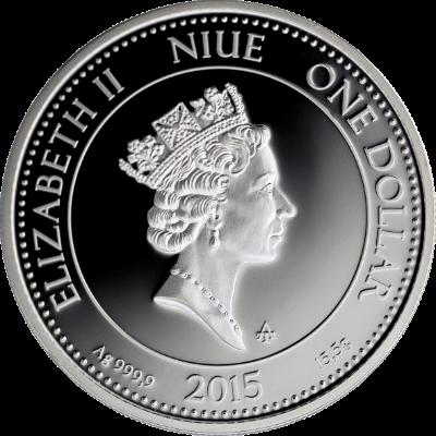 """Сребърна монета """"Диана, Богинята на лова"""", гръб"""