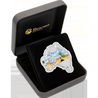 "Сребърна монета ""Австралийска карта - Ему""  4a9126a8876a3d72e17407bf8d4bca3938dcc4d4b9e2115e670a673252325f6f"