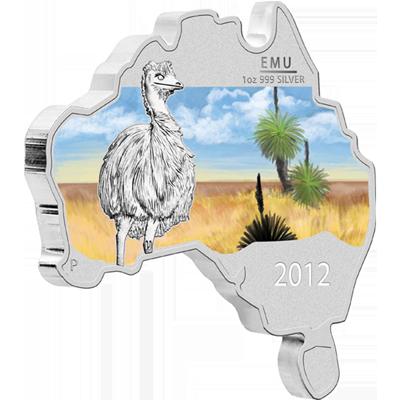 "Сребърна монета ""Австралийска карта - Ему""  9b668b9a4234de16066d03f6fab789768ab4d44cbcab7ebade8414d32398fad4"