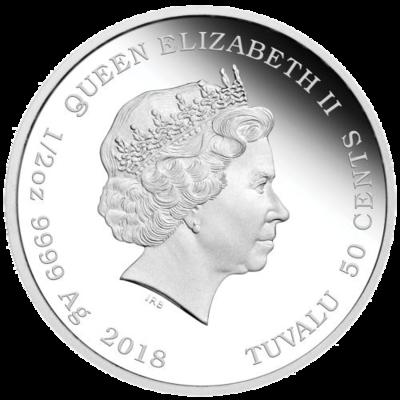 "Сребърна монета ""Кученца - Английски Булдог"", гръб"