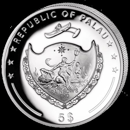 """Сребърна монета """"Годината на петела 2017"""" - 1 унция гръб"""