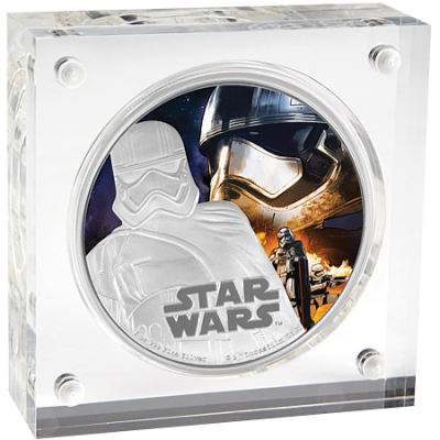 """Сребърна монета """"Star Wars- Капитан Фазма""""  9b1916684bd593d2b943b5671f06fa9473be2b44555c221e739a35029b7eeb71"""