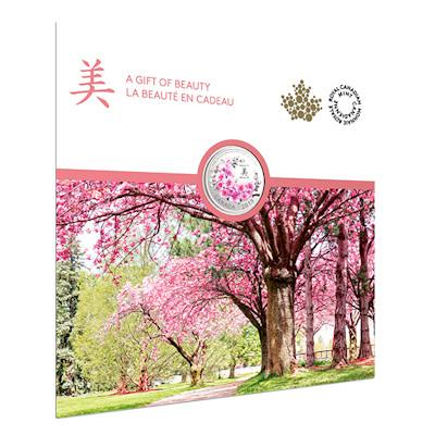 "Silver coin ""Cherry Blossoms"", cover"