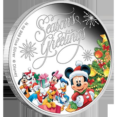 """Сребърна монета """"Весели празници с Дисни""""  bc1b9e4821937f2c3a34c77aff5f389b8fa99fa3ea031c2a8590ba1a7a40003a"""
