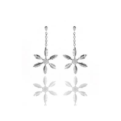 """Earings """"Snow Feather"""""""