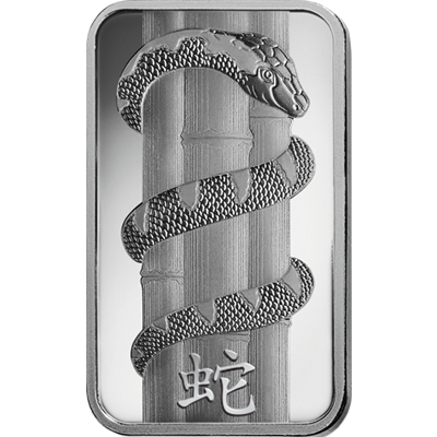 """Silver bar """"Year of the Snake"""""""