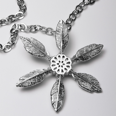 """Necklace """"Snow Feathers"""""""
