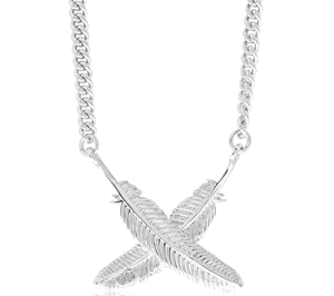 "Necklace ""Kissing Feathers"""