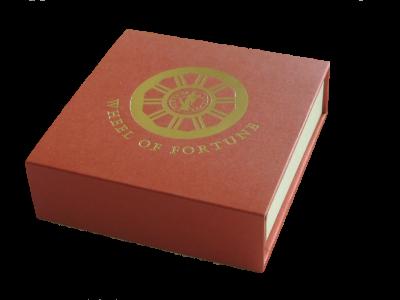 """Сребърна монета """"Колелото на щастливата съдба, Богинята Фортуна"""", кутия"""