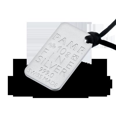 "Silver pendant bar ""Birch"" back"