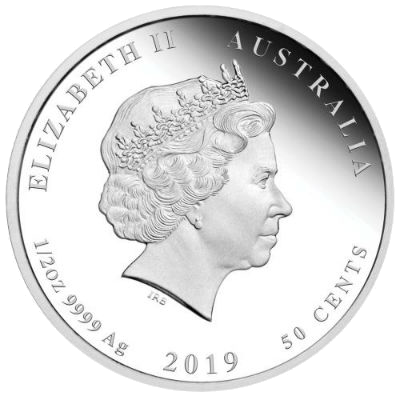 """Silver coin """"Year of the Pig"""", back"""