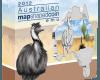 """Сребърна монета """"Австралийска карта - Ему""""  52c4a115da38a05bb26e9f78f1793a69851bda036a2c082e2003f10b4baf9ac7"""