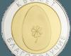 """Сребърен медал """"Яйце за Здраве и Късмет"""", с частично златно покритие  88b012496ef0ed93ac75ed4ee36429db97836029cae411141ad5d8eb9c1ccd8a"""