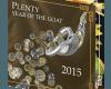 """Сребърна монета с частично позлатяване """"Изобилие и закрила,Годината на Козата"""" 2015  793d722d0ea6cb04f388fae88256b204a18c83372ca142c5af598f98b4976ab8"""
