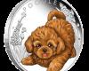 """Сребърна монета """"Кученца - Пудел"""", лице"""