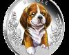 """Silver coin """"Puppies - Beagle"""", face"""