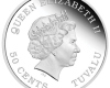 """Silver coin """"Tuvalu - Baby Pig"""", back"""