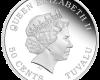 "Сребърна монета ""Тувалу - Бебе прасе"", гръб"