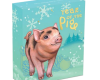 """Silver coin """"Tuvalu - Baby Pig"""", outer box"""