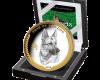"""Сребърна монета """"Годината на Кучето 2018"""", кутия"""