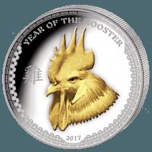 """Сребърна монета """"Годината на петела 2017"""" - 1 унция лице"""