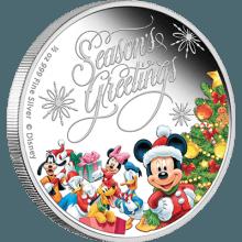 "Silver coin ""Disney Season's Greetings""  920c84c349ed5ead0c9d9aaa3ae4ee0ca81ff6a3df2e05b9c63049122b2cdbfb"