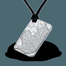 """Сребърно кюлче-медальон """"Кленов лист"""" лице"""