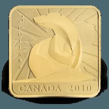 """Сребърна монета """"Полярна мечка"""", със златно покритие"""