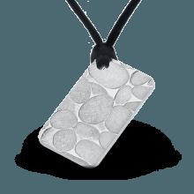 """Сребърно кюлче-медальон """"Речни камъни"""" лице"""