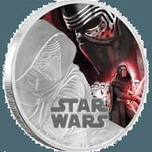 """Silver coin """"Star Wars - Kylo Ren""""  1d7e3b80cc0aa92ccdc8ba10d50de49a9b80970690c6402643beafb3c1e8c802"""