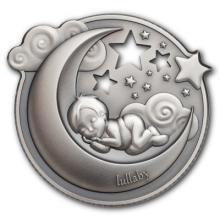 """Silver coin """"Dreaming Boy"""", face"""