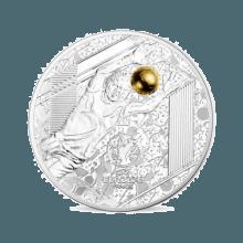 """Сребърна монета """"Велики спортни събития - УЕФА  - Умело спасяване"""""""